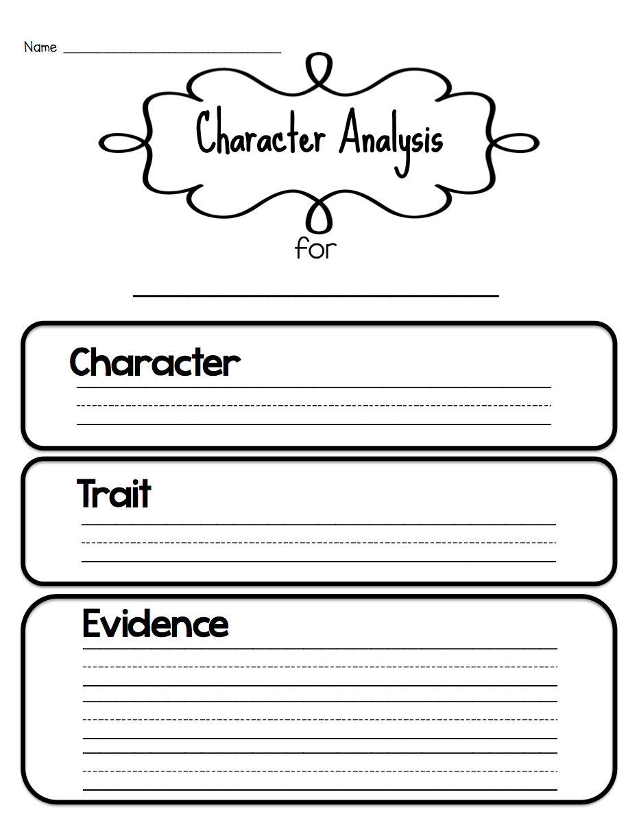 Sarahs First Grade Snippets Teaching Character Analysis in the – Creating a Character Worksheet