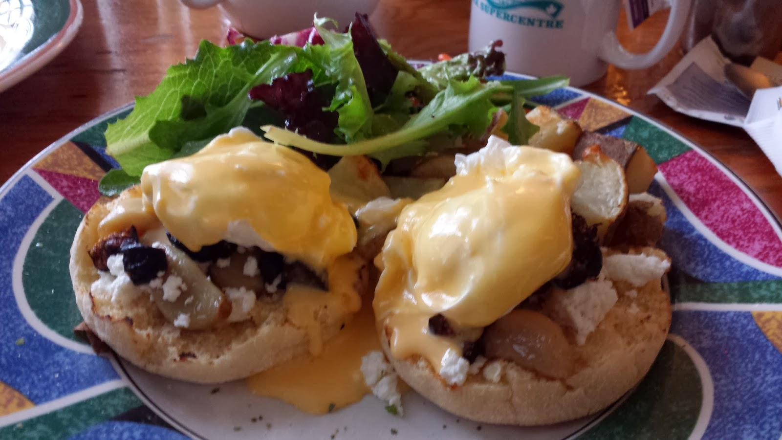 Fig and goat cheese eggs benny from The Wallflower Modern Diner. Photo: Just J