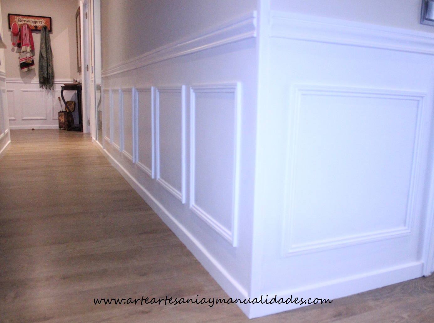 Arte artesania y manualidades lacado de puertas handmade - Zocalo pared ...