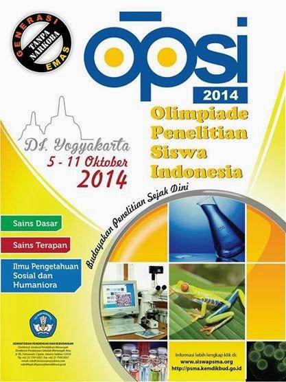 Update News FOSCA : OPSI 2014 (Olimpiade Penelitian Siswa Indonesia)