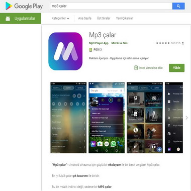 google play - mp3 çalar
