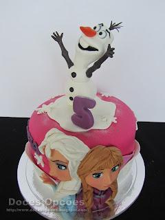 bolo aniversário frozen