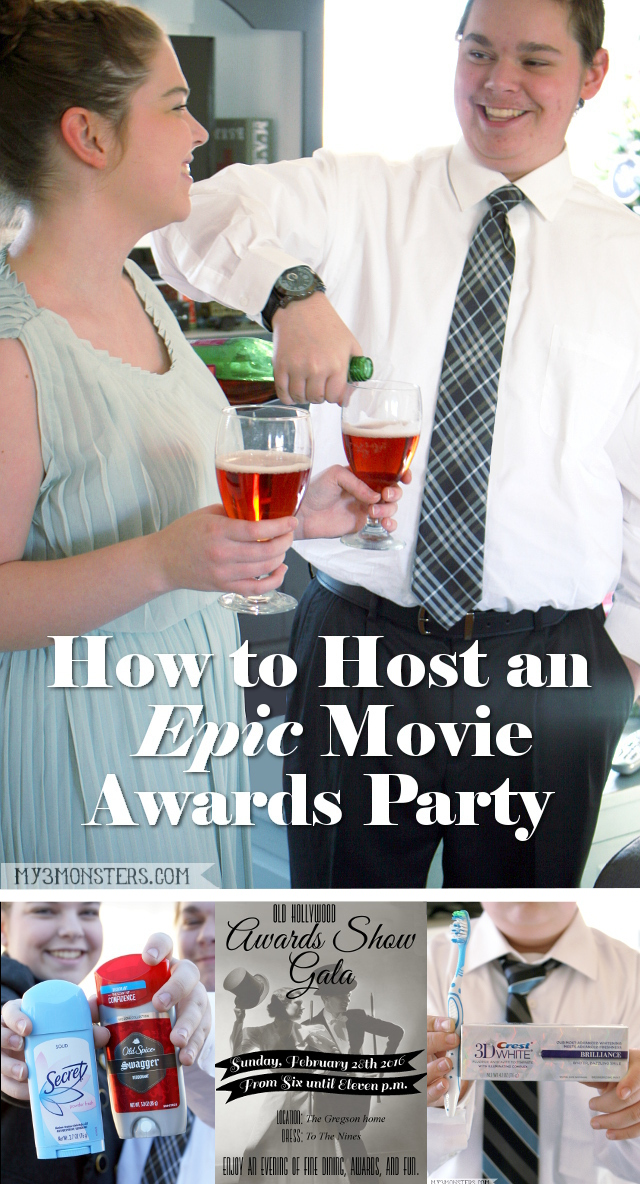 How to Host an Epic Movie Awards Party at my3monsters.com -- free printables, decor ideas, and deals on award winning products. #AwardWithSavings #ad