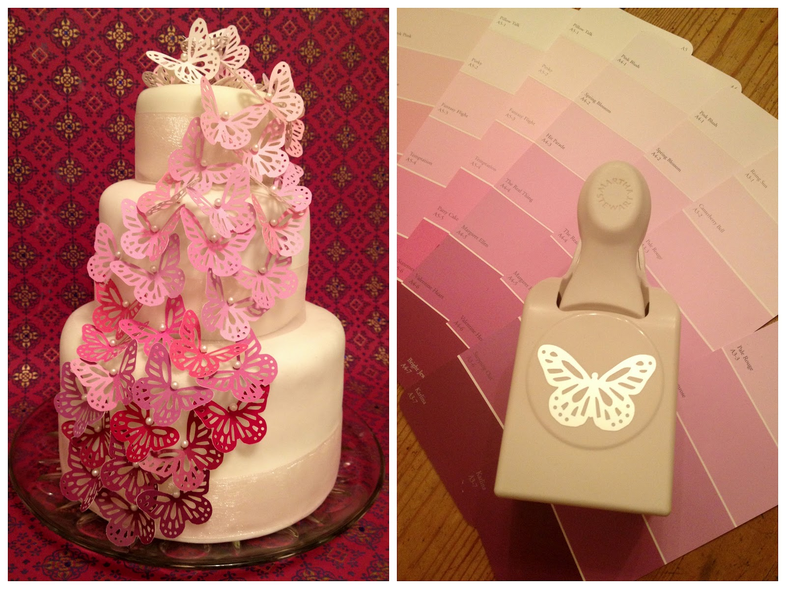 Jennuine by rook no 17 easy elegant wedding cake you for Making butterfly decorations