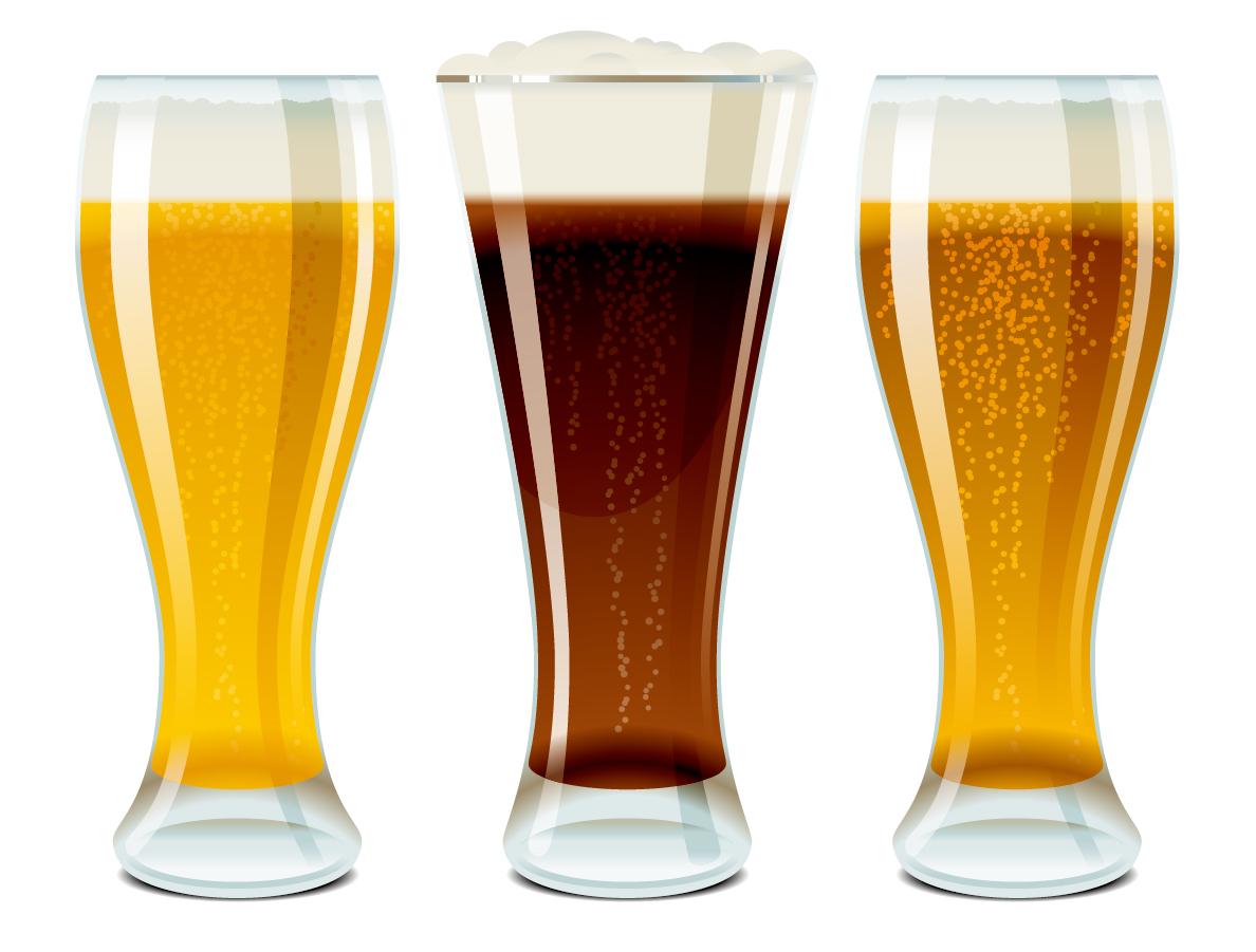 冷えたビールとお酒のクリップアート beer bottles drinks イラスト素材2