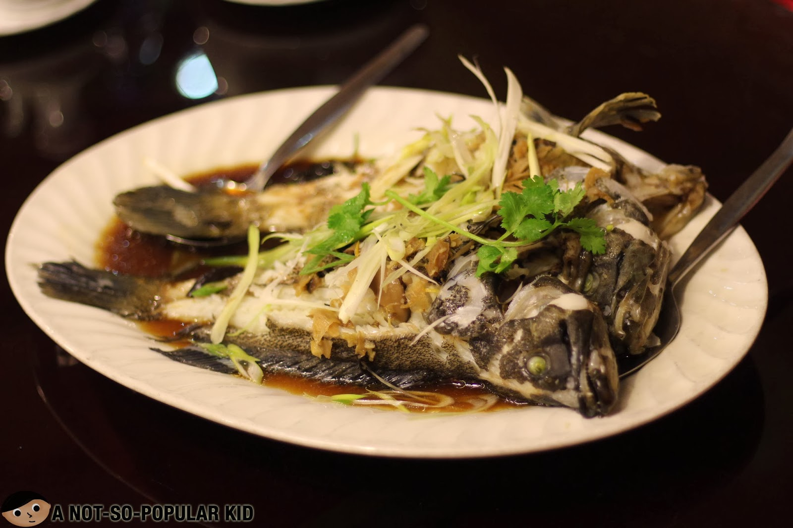 Steamed Lapu-Lapu with Soy Sauce of UNO Chinese Restaurant