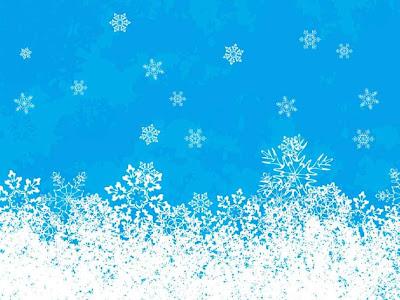 Fondo color celeste y termina con blanco de la nieve