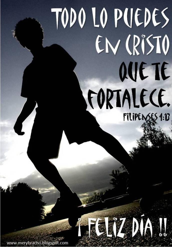 Postal cristiana Todo lo   puedes en Cristo
