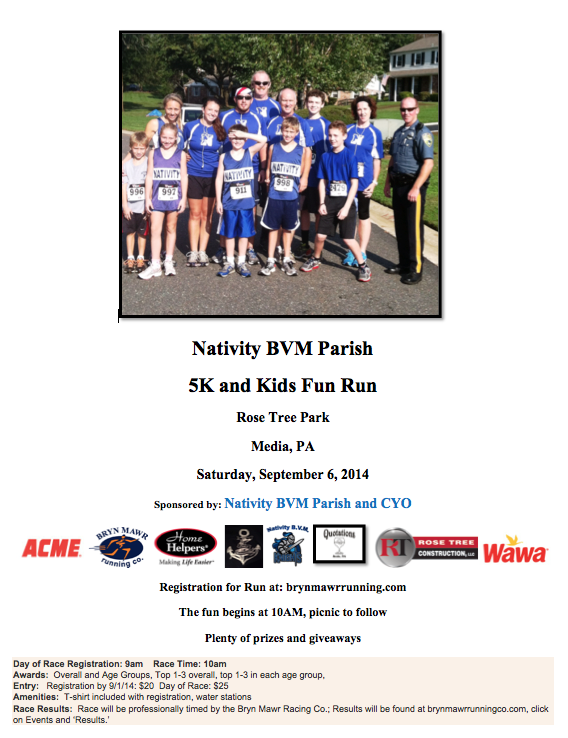 Nativity BVM Parish 5k Run