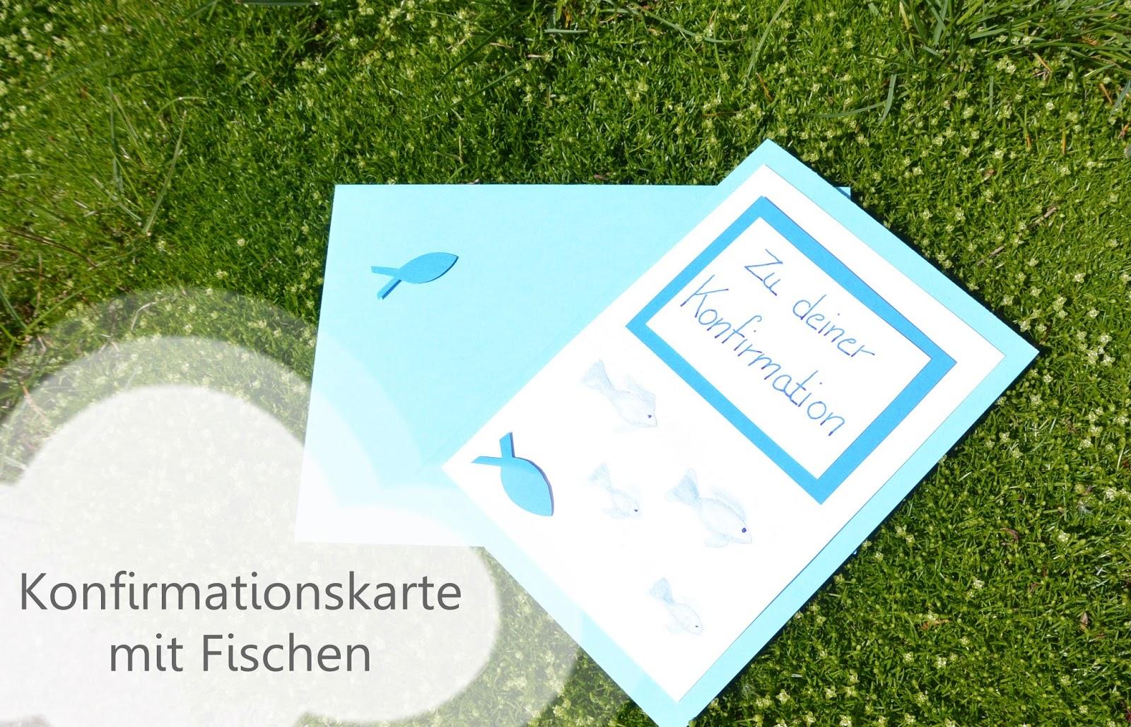 Kristallzauber diy konfirmationskarte mit fischen for Teichreinigung mit fischen