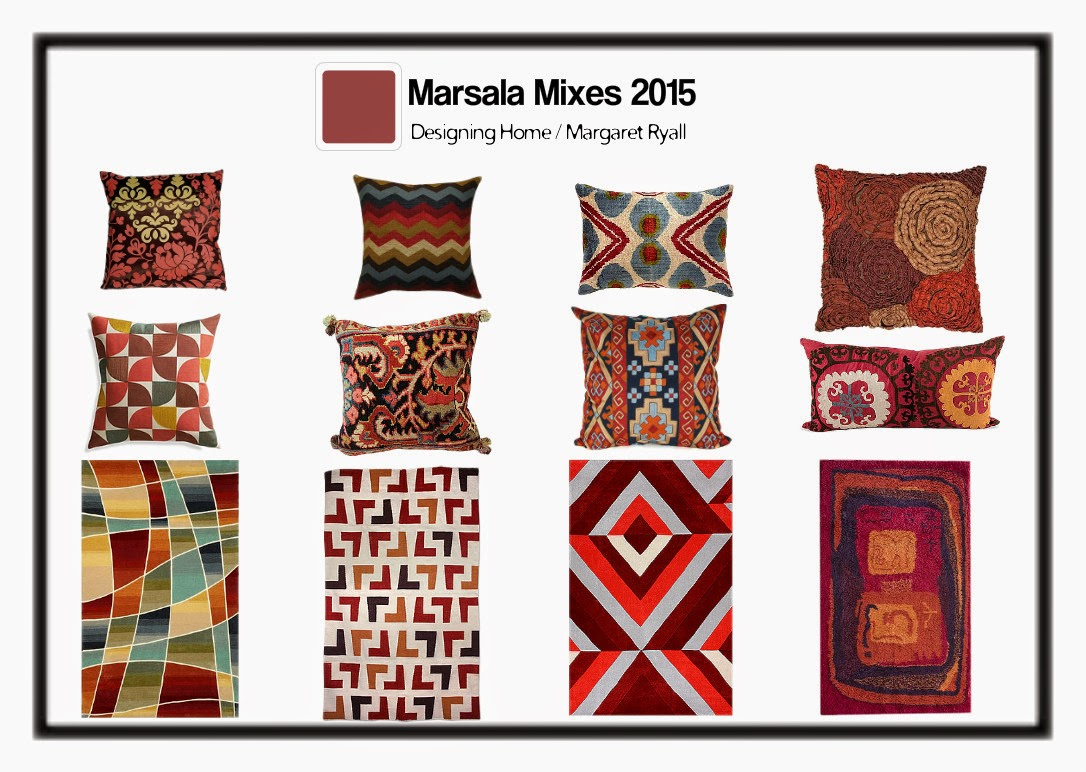 Pantone 2015, marsala, Designing Home, Margaret Ryall, style board