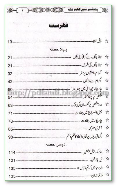 Panjshir se Lahore tak's contents