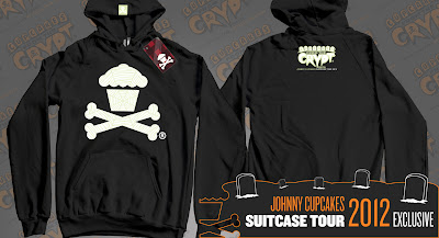 "Johnny Cupcakes 2012 Suitcase Tour ""Cupcakes From The Crypt"" Exclusives - Glow in the Dark (GID) Spider Web Crossbones"