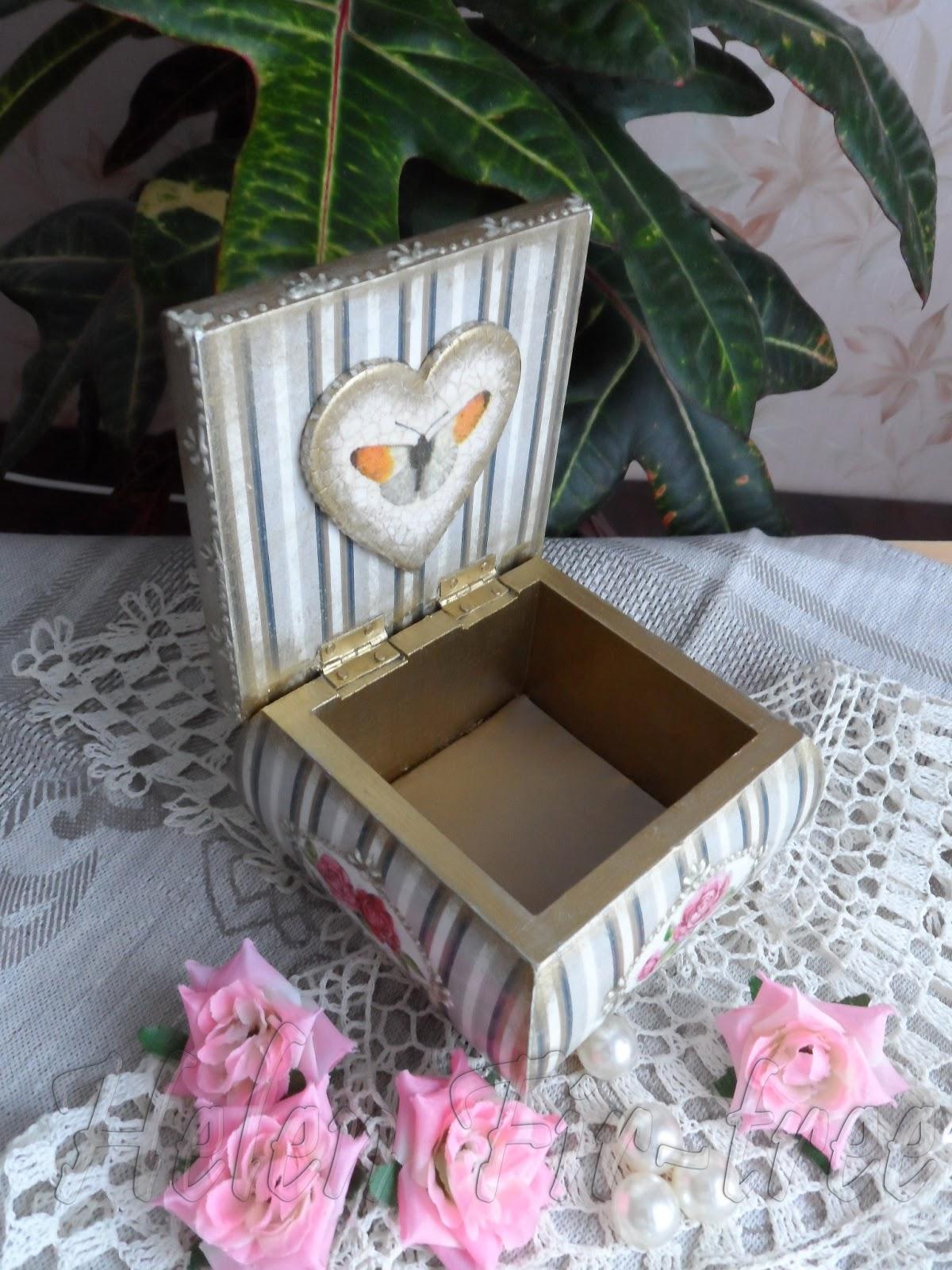 """Helen Fir-tree декупаж шкатулка """"Винтажная"""" decoupage casket """"Vintage"""""""