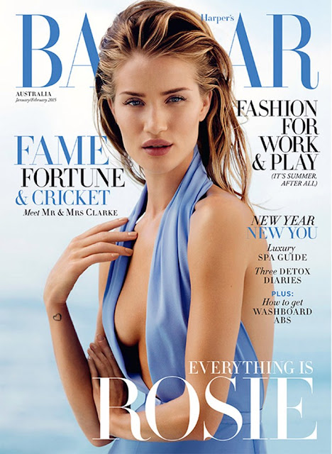 Actress, Model @ Rosie Huntington-Whiteley for Harper's Bazaar Czech, July 2015