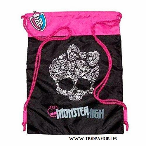 bolsa de cuerdas Calavera negra y rosa Monster High 15,00 €