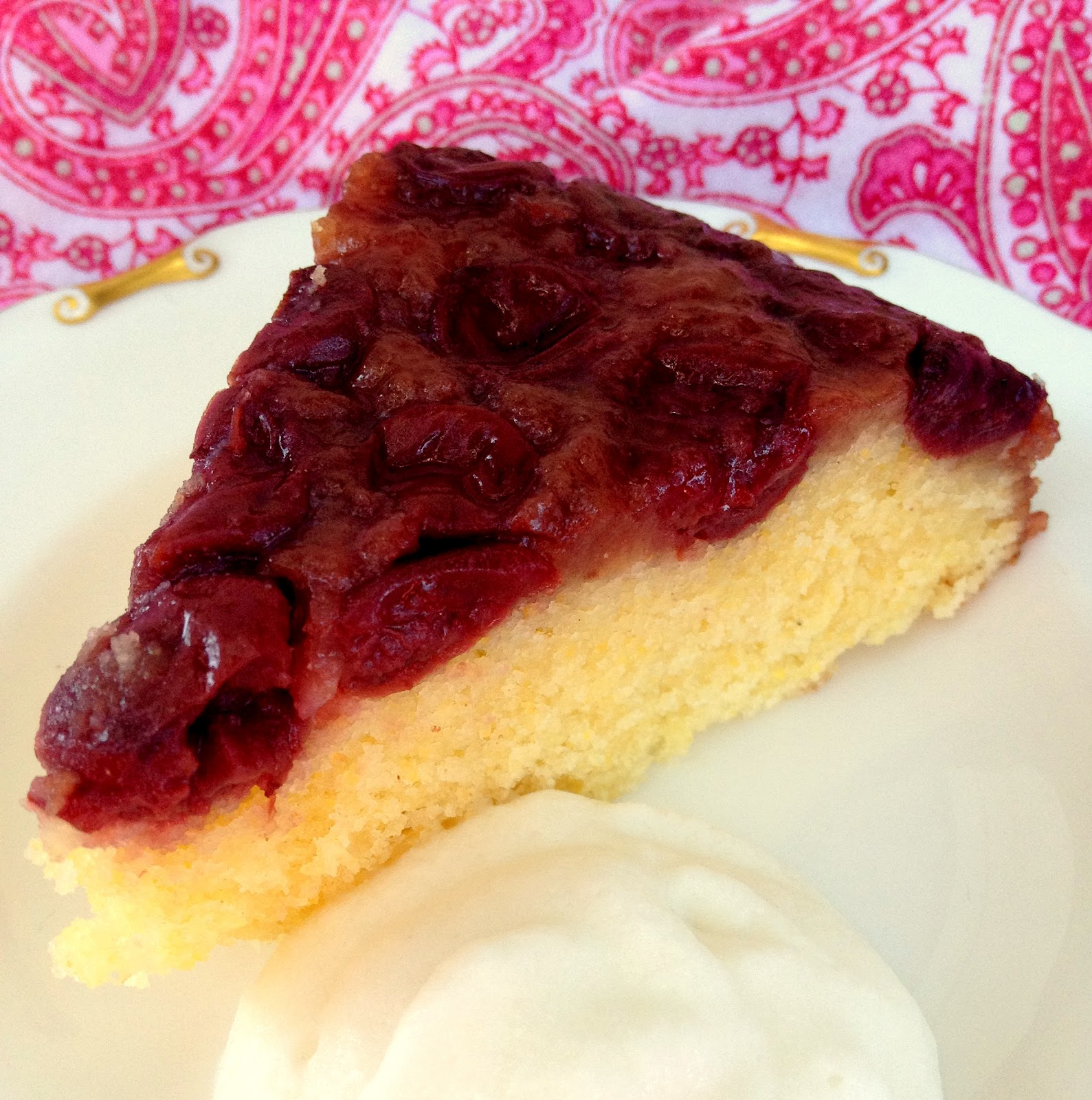 Jennuine by Rook No. 17*: Skillet Cherry Cornmeal Upside-down Cake
