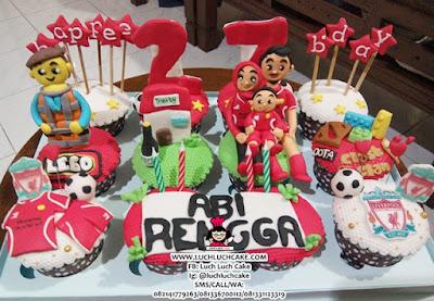 Cupcake Keluarga Tema Lego dan Liverpool