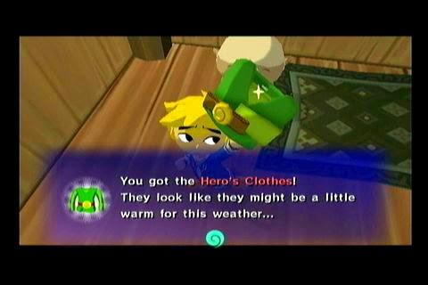 Link y su ropa en Wind Waker