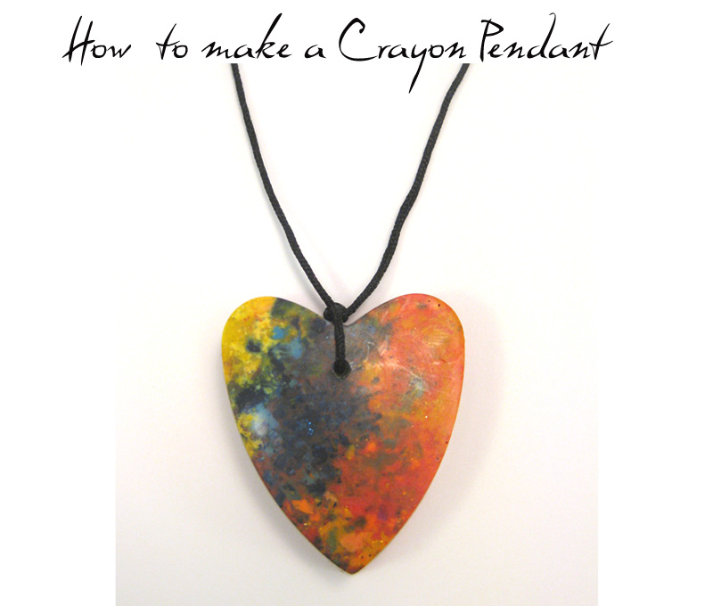 Six0six design craft tutorial 3 how to make crayon pendants craft tutorial 3 how to make crayon pendants aloadofball Gallery