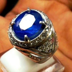 Batu Cincin Blue Saphire