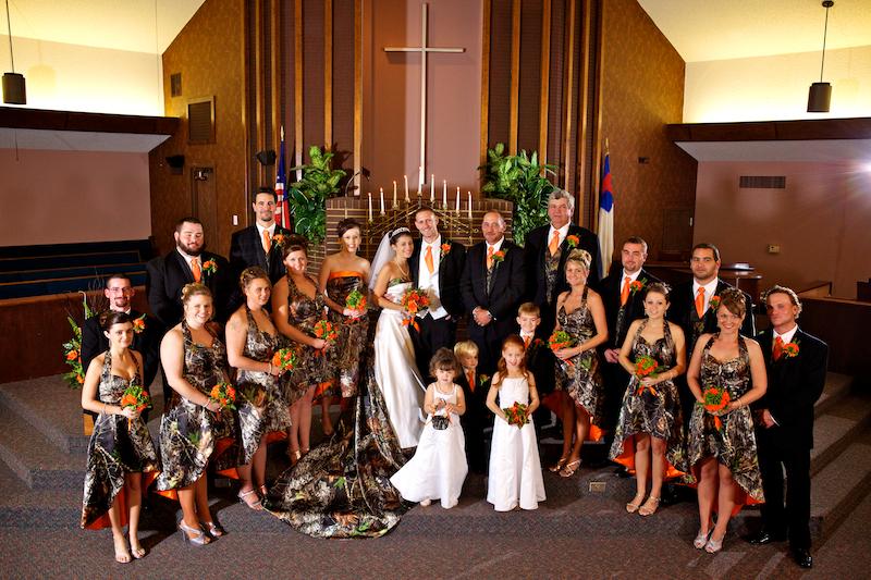 bridesmaid dresses me i m leaning towards orange and camo