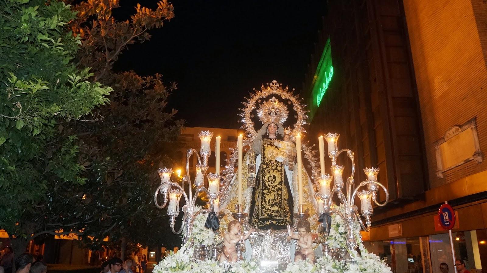 Procesion de la Virgen del Carmen de la Iglesia del Santo angel