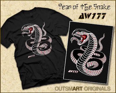 "Outsmart Originals x AW177 ""Year of the Snake"" T-Shirt"