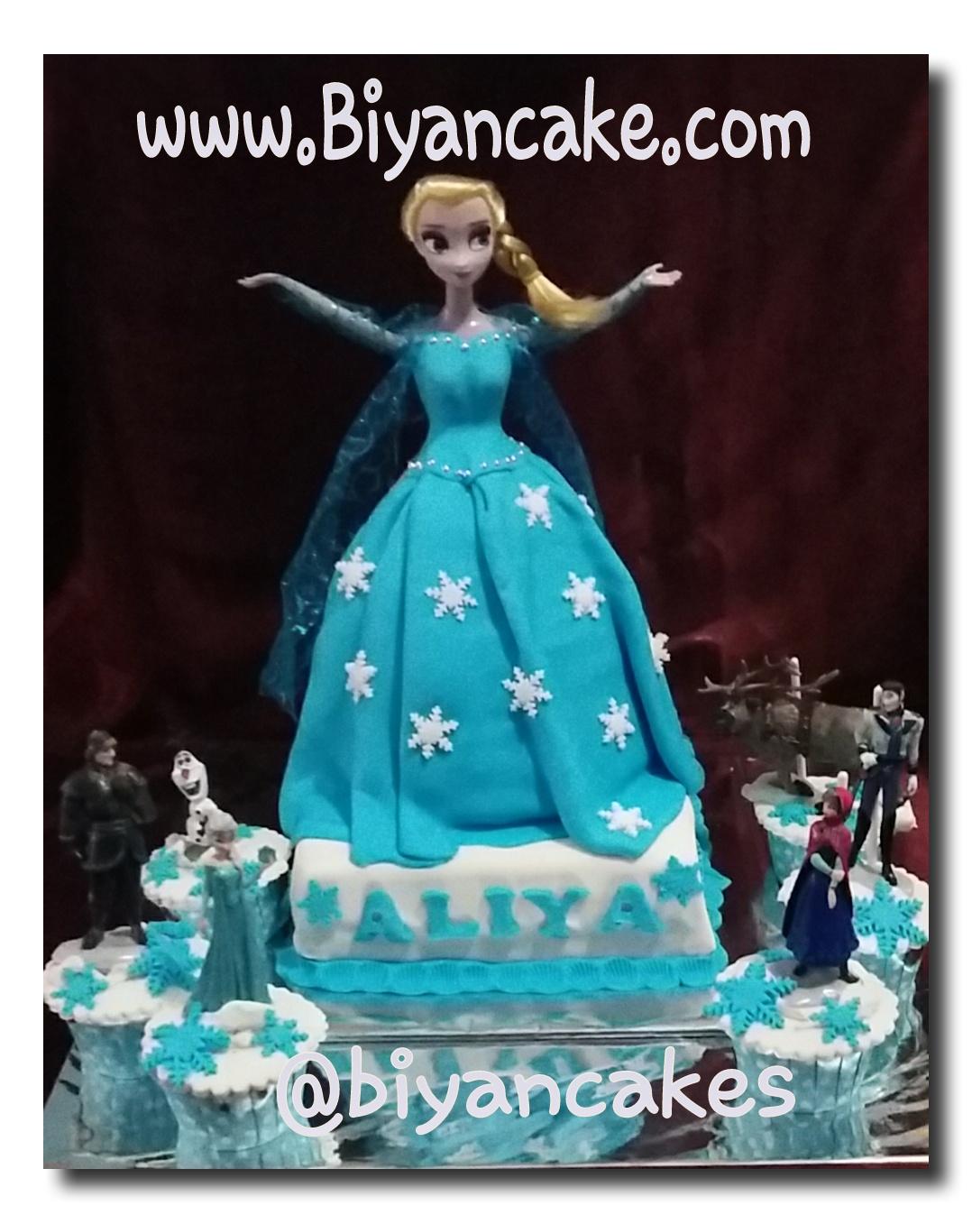 Barbie cake elsa Frozen ~ Aliya