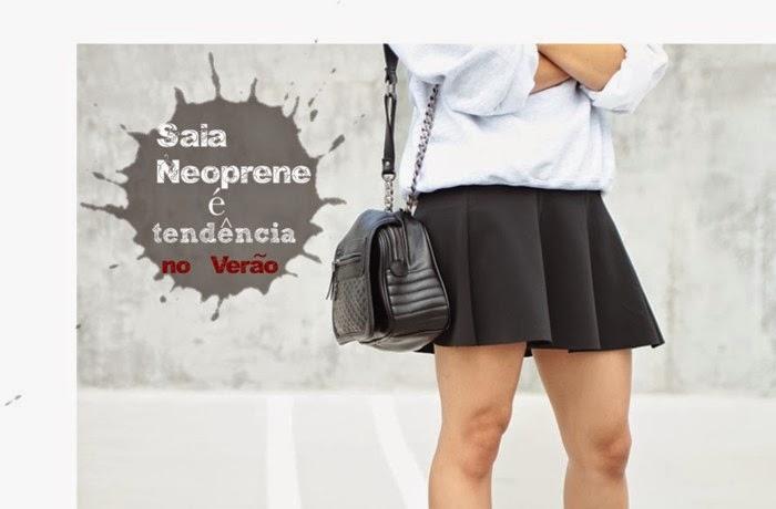 Saia Neoprene-modelo de saia-modelos de saias-saias da moda-saia de neoprene-saias neoprene-saias femininas-saias de neoprene-saia preta-saia rodada-saia-sino-saias curtas-saia curta-roupas-femininas-moda verão 2015
