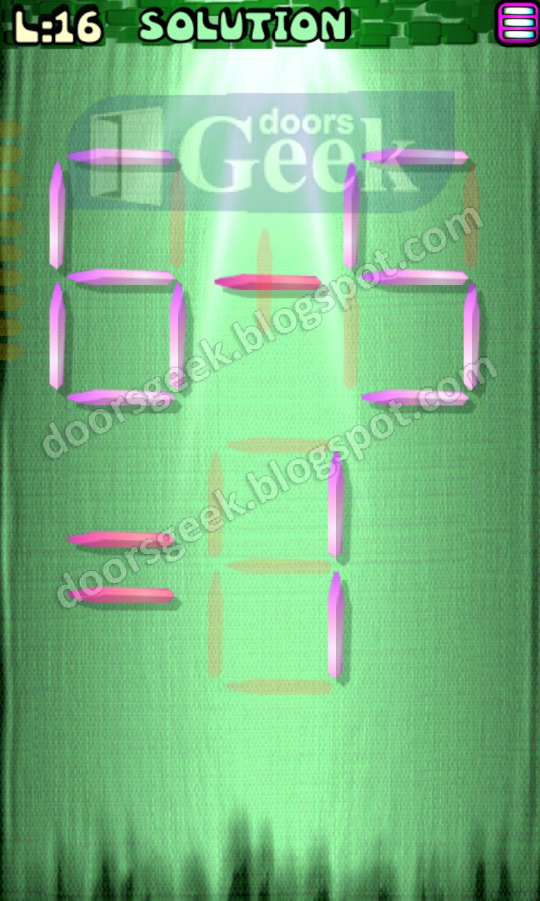 matches puzzle episode 5 level 16 solution doors geek For16 Door Puzzle Solution