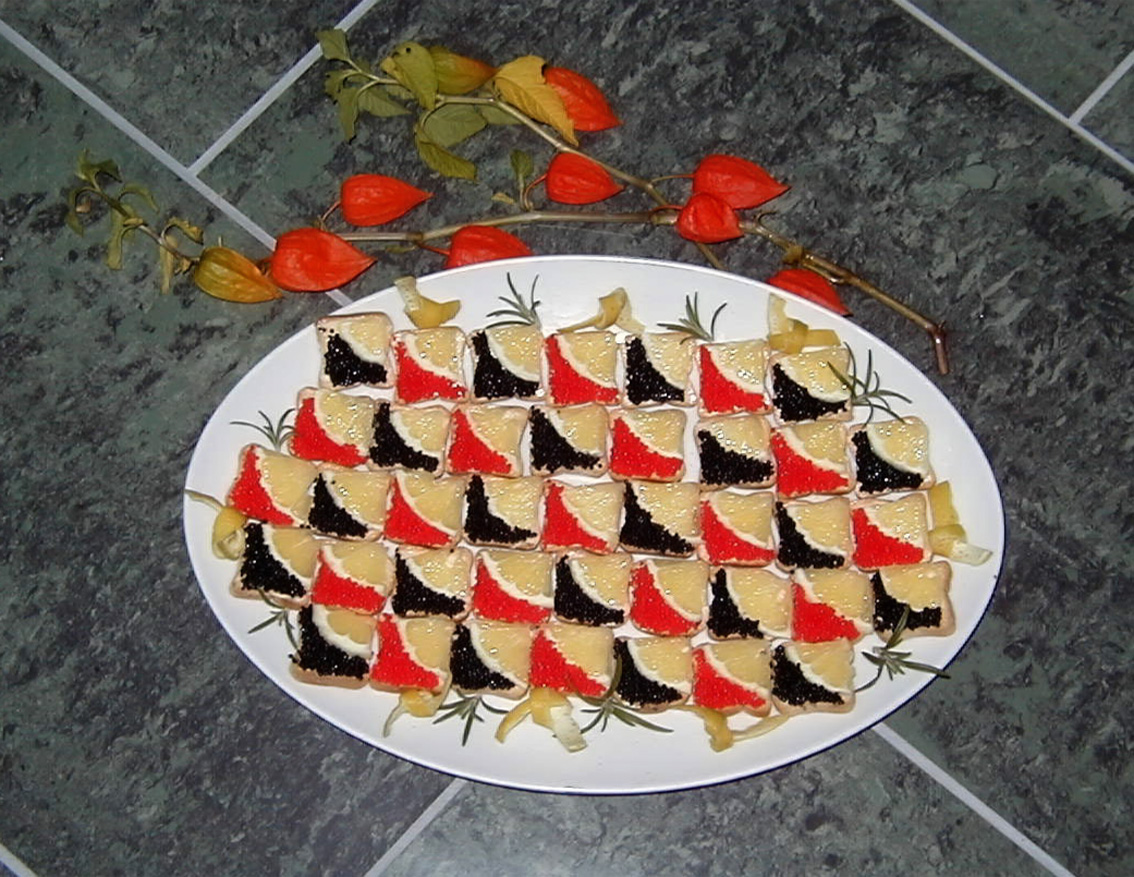 Intelliblog caviar canap s for Canape with caviar