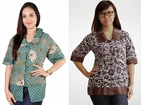 model baju kantor batik