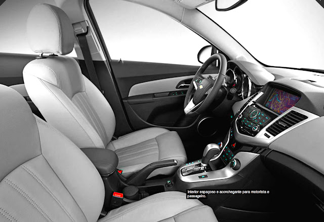 Interior do carro Cruze da chevrolet