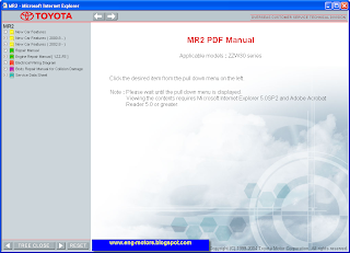 Toyota MR2 service manual