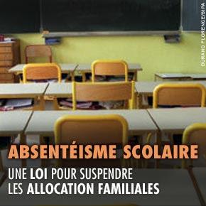 Absentéisme scolaire : abrogation de la loi de septembre 2010 suspendant les allocations familiales