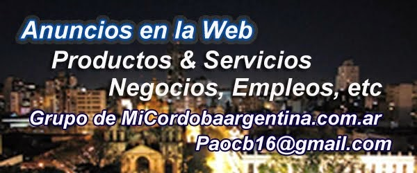 Anuncios en la Web Córdoba