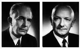 Assar Gabrielsson y Gustaf Larson fundadores de Volvo