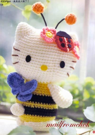 Kitty Mariquita Amigurumi : El rinconcito de Gra: Empece mi amigurumi Kitty abejita!!