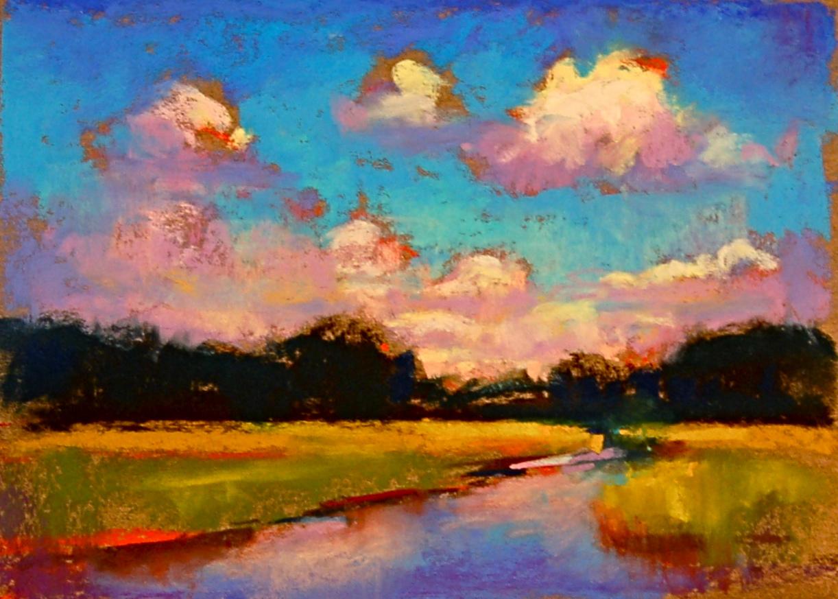 Pics For > Oil Pastel Paintings Landscape