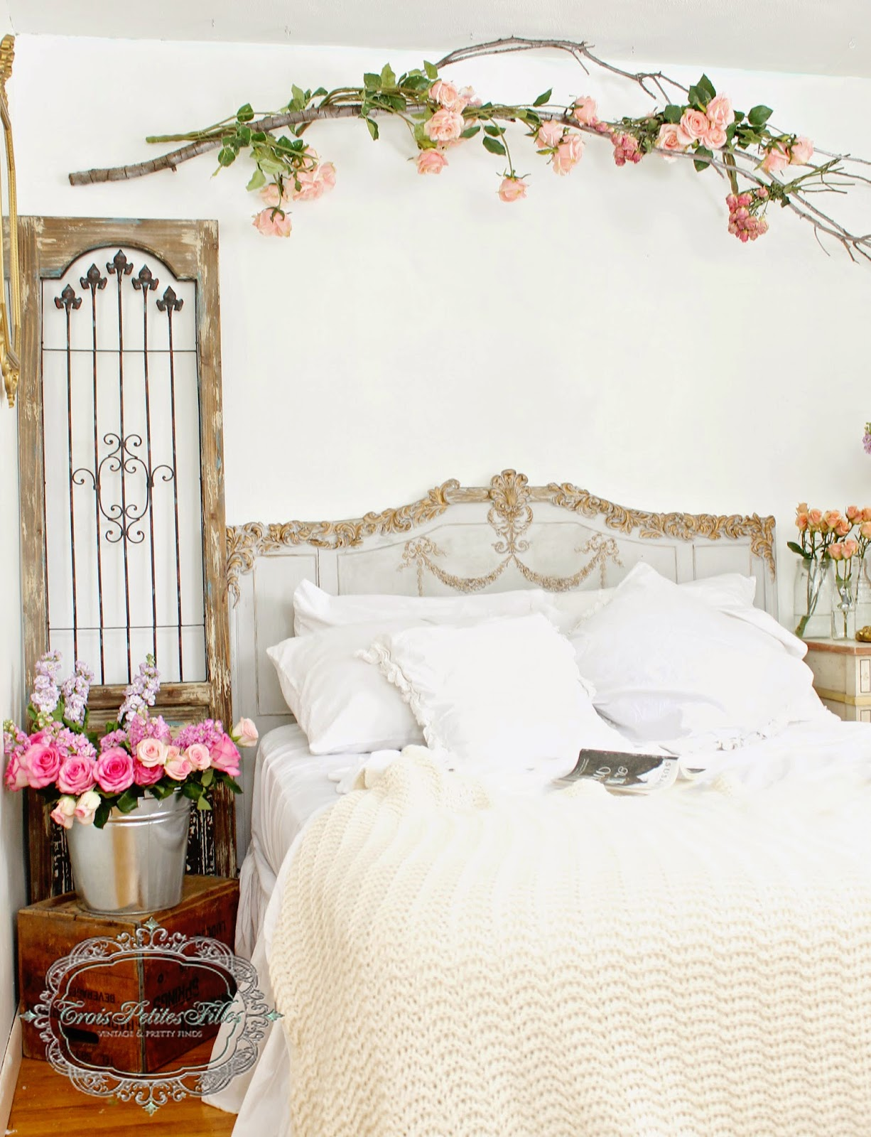 Trois Petites Romantic Bedroom-Treasure Hunt Thursday- From My Front Porch To Yours