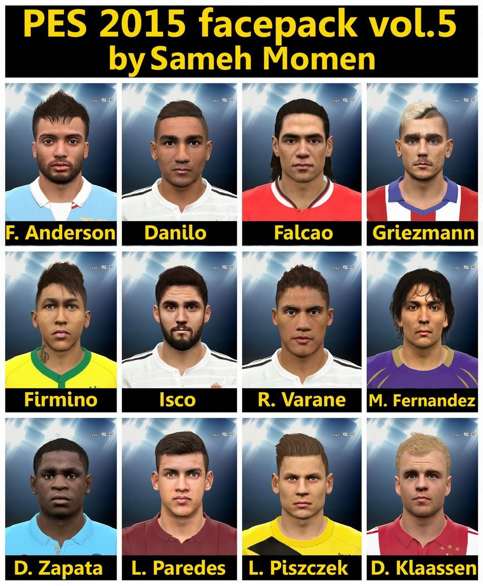 PES 2015 Facepack Vol 5 By Sameh Momen