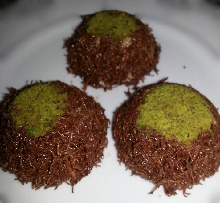 çikolatalı çıtır kadayıf topları