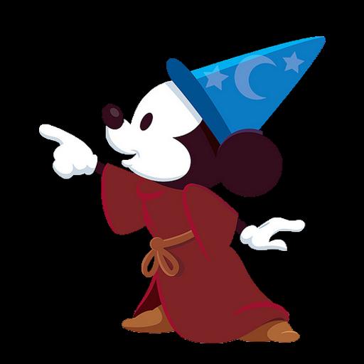 Mickey fofinho desenho colorido com fundo transparente
