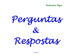 Perguntas & Respostas, Volume 1