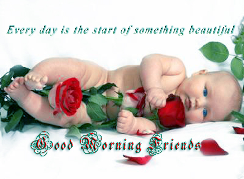 Awesome Good Morning Quotes Wallpaper Images Cute Baby