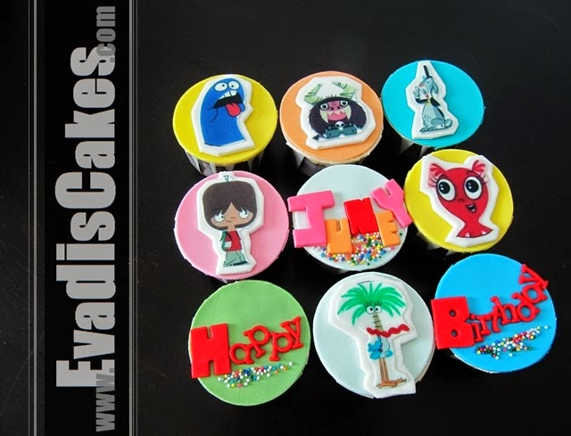 Picture of customize monster cupcakes