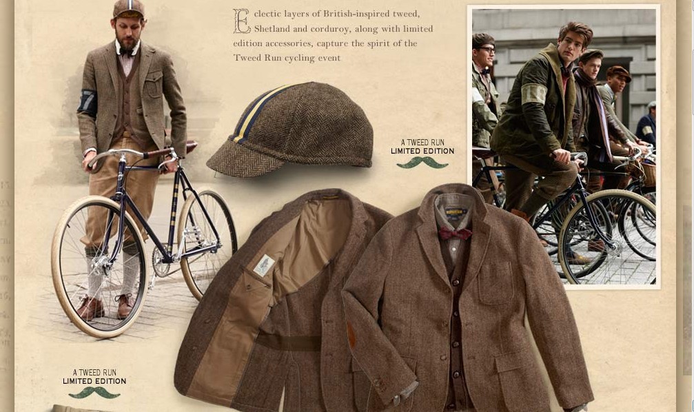 So not only has Ralph Lauren appropriated the style, the bikes, and the mustaches of the Tweed Run/Ride, but he\u0026#39;s the sponsor/owner (?) of the Rugby Ralph ...