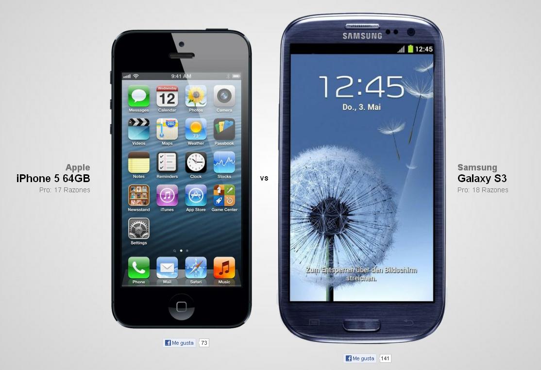 Samsung s3 vs iphone 5