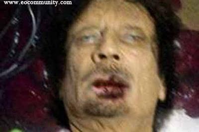 gadhafi dead picture